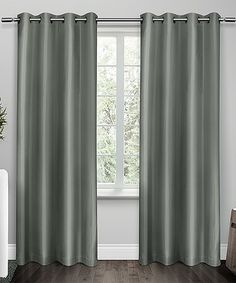 Steel Blue Shantung Thermal Curtain Panel - Set of Two #zulily #zulilyfinds
