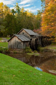 Mabry Mill Fall 2013 | Virginia | Photo By Greg Dolly white...Been there! Such a neat place