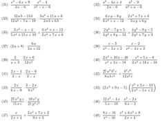Multiplying Rational Expressions Worksheets | Math-Aids.Com ...