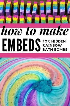 How To Make Rainbow Bar Embeds For Hidden Rainbow Bath Bombs Have You Ever Wondered Exactly How Diy-Ers Get Their Homemade Bath Bombs To Explode With A Rainbow Of Colors? Prepared To Take Your Homemade Bath Bombs To The Next Rainbow Bath Bomb, Rainbow Bar, Mason Jar Crafts, Mason Jar Diy, Diy Home Decor Projects, Diy Projects To Try, Bath Bomb Ingredients, Galaxy Bath Bombs, Homemade Bath Bombs