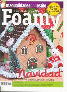 Cursos y tutoriales para manualidades: Como hacer una casita de jengibre en foamy Christmas Books, Christmas Diy, Christmas Ornaments, Navidad Diy, Putz Houses, Book Crafts, Craft Books, All Craft, Diy Weihnachten