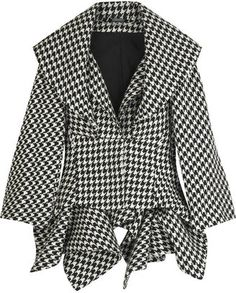 ShopStyle: Alexander McQueen Houndstooth folded jacket