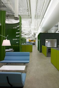 An Eames Sofa Compact inhabits a lounge space at ad agency JWT, who recently transformed their New York City offices to enhance mobility and collaboration. Image: JWT