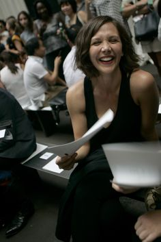 Maggie Gyllenhaal Front Row at Rag & Bone