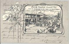 Guinea Española (Fernando Póo) : calle del Sacramento de Sta. Isabel y la banda indígena de la colonia alemana de kamerun Publicación: [S.l. : s.n., 1907]