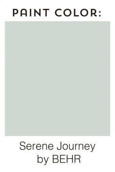 Paint color on the walls is Serene Journey by BEHR - beautiful soft grayish aqua!