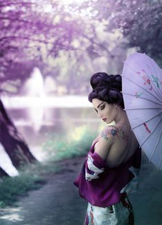 beautiful Geisha by Yana Bobrykova- How I feel after I eat my own home made sushi rolls. :D