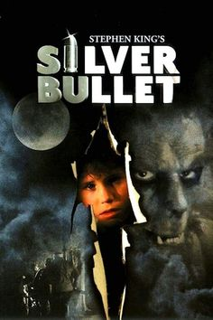 The first scary movie I ever watched. Silver Bullet Dino De Laurentiis Co. and Famous Films with Corey Haim, Gary Busey, and Everett McGill. Another screen adaptation of a Stephen King story . this time the book Cycle of the Werewolf. 80s Movies, Great Movies, Movies To Watch, I Movie, Awesome Movies, Movies 2019, Horror Movie Posters, Horror Movies, Film Posters