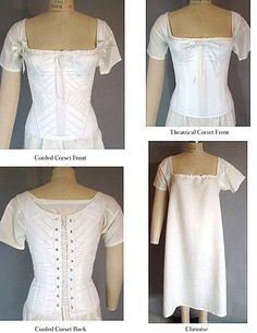 Schnittmuster: 1805-40 Korsett +Hemdchen - Kostümkram