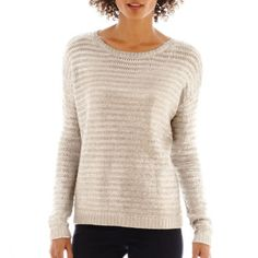 901f823736e a.n.a® Long-Sleeve Metallic Sweater found at  JCPenney extra large Long  Sleeve