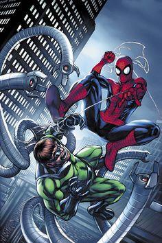 #Spiderman #Fan #Art. (Spiderman vs Dr. Octopus) By: Michael Ryan. (THE * 5 * STÅR * ÅWARD * OF: * AW YEAH, IT'S MAJOR ÅWESOMENESS!!!™)[THANK Ü 4 PINNING<·><]<©>ÅÅÅ+(OB4E)