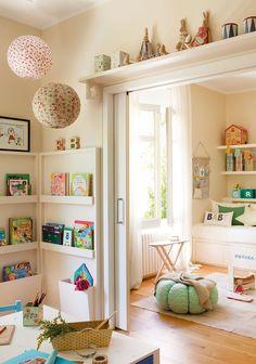 Colorful Playroom Design Idea Use to Divide areas Maryjanes and Kids Playroom Ideas Casa Kids, Colorful Playroom, Colorful Crafts, Deco Kids, Playroom Design, Playroom Ideas, Kid Playroom, Children Playroom, Organized Playroom