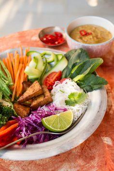 indonesian gado-gado salad close up