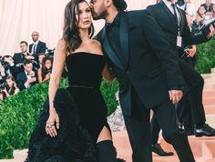 — Bella Hadid (wearing Givenchy) & The Weeknd - Met...