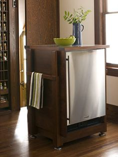 How to Transform a Small Kitchen. Refrigerator CabinetOutdoor ...