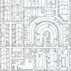 Birdseye City fabric by *erinred* on Spoonflower - custom fabric