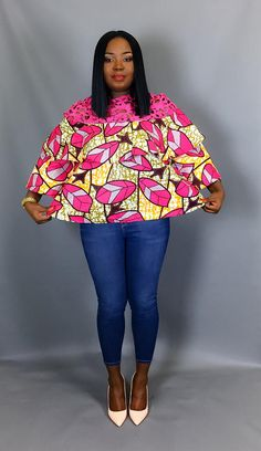 African Print tiered topAfrican clothingAfrican print