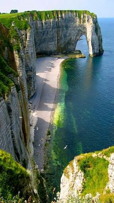 Etretat, France - There is something that is so erringly familiar about this place -k. Places to visit l Travel destination l Tourism Vacation Destinations, Dream Vacations, Vacation Spots, Vacation Rentals, Vacation Travel, Beach Travel, Etretat France, Etretat Normandie, Amazing Nature
