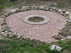 back yard fire pits images | fire pits and outdoor fireplaces this small fireplace makes for a cozy ...