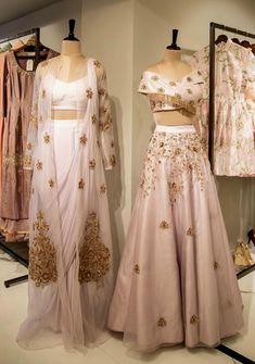 Beautiful Silk and organza-silk Had embroidered Dresses. Red Lehenga, Lehenga Choli, Pakistani Sharara, Anarkali, Sarees, Indian Long Dress, Indian Dresses, Indian Wedding Outfits, Indian Outfits