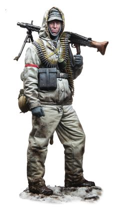 The Modelling News: A new figure of an MG 42 SS Schütze, in 1944 by Eisernes Kreuz & Andrea Miniatures in 1/16 - 1/35 - 1/48 - 1/72nd scales