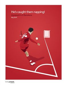 Football Icons - He's caught them napping! and poster sizes available. Illustration By Mike Moran Liverpool Poster, Liverpool Anfield, Liverpool Fc Wallpaper, Liverpool Champions, Liverpool Wallpapers, Liverpool Premier League, Liverpool Players, Liverpool Football Club, Football Icon