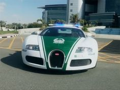 The Dubai Bugatti Police Car Makes Speeding a Thing of the Past #Daytona500 #Cars
