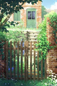 Phong cảnh anime d&g plus size - Plus Size Fantasy Landscape, Landscape Art, Fantasy Kunst, Fantasy Art, Anime Kunst, Anime Art, Casa Anime, Scenery Wallpaper, Anime Scenery