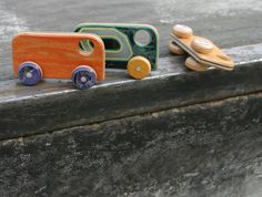 Recycled Skate board toys - so awesome!  Van. $22.00, via Etsy.