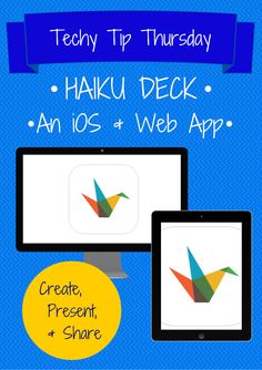 Zig Zagging : Techy Tip Thursday - Start Loving Haiku Deck, with creative ideas for how to use it in the classroom Instructional Technology, Educational Technology, Help Teaching, Teaching Reading, Ready Readers, Too Cool For School, School Stuff, First Grade Classroom, Technology Integration
