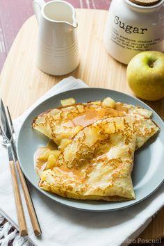 Crêpes aux Pommes & Caramel au beurre salé                                                                                                                                                                                 Plus