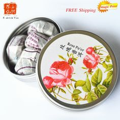 Gift packed Rose flavor Pu'er tea,chinese tea tuo cha drink yunnan small puerh 6pcs shu cha Black Tea for lose weight