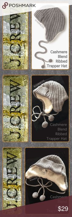 FLASH SALEJ. CrewCashmere Blend Trapper Hat Get a jump on the cold weather. Look fabulous and stay warm with this adorable hat! A pretty new take on the classic trapper hat that will keep your head and ears warm and toasty. Faux shearling lining. One size fits most.   Details: ❄️Color: Heather Graphite  ❄️Material: Nylon/Viscose/Merino Wool/Cashmere  ❄️Care: Dry clean J. Crew Accessories Hats