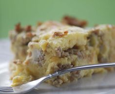 This isn't really for dinner..but..WW Sausage and Cheese Breakfast Casserole