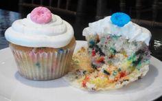 Sew Cute Confetti Cupcake: Homemade confetti cake topped with vanilla buttercream and sugar buttons! Confetti Cupcakes, Vanilla Buttercream, Pastry Cake, Cake Toppings, Sew, Sweets, Sugar, Homemade, Desserts