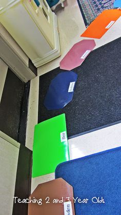 Teaching 2 and 3 Year Olds: Our First Day in the 3's Class- mats for circle time?