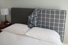 How to Make a Headboard Slipcover with No-Sew Piping (or welting)