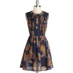 ModCloth Mid-length Sleeveless A-line I Feel Witty Dress
