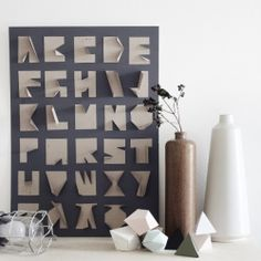 DIY cardboard alphabets.