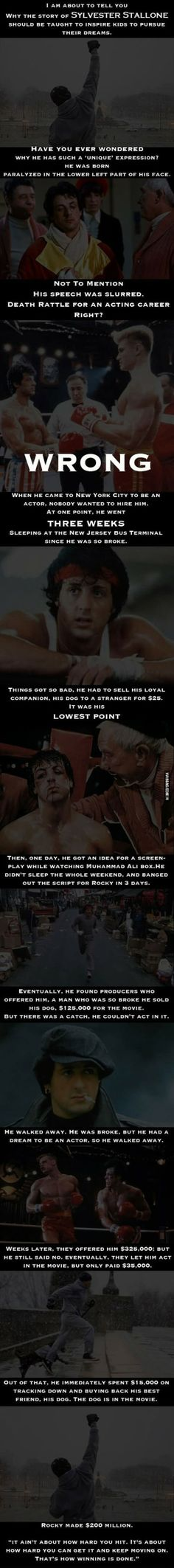 The story of Rocky.  Yeah, Stallone is kind of epic.