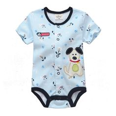 Jumping beans spring summer cotton kids baby boy infant short sleeve triangle rompers thoracotomy jumpsuits bodysuit dog