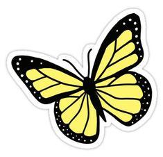 Blue Butterfly Discover Yellow Butterfly Sticker by littlemandyart Butterfly Drawing, Butterfly Painting, Butterfly Wallpaper, Blue Butterfly, Yellow Aesthetic Pastel, Aesthetic Pastel Wallpaper, Pastel Yellow, Aesthetic Painting, Aesthetic Drawing