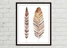 Watercolor Feather Print and Feather Art on Etsy