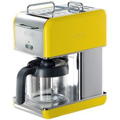 every morning would seem sunny with a bright yellow coffee maker!