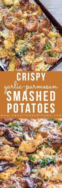 These smashed potatoes are incredibly fluffy and tender on the inside, yet amazingly crisp on the outside – and loaded with garlic butter and delicious parmesan cheese. The perfect side dish to any meal!