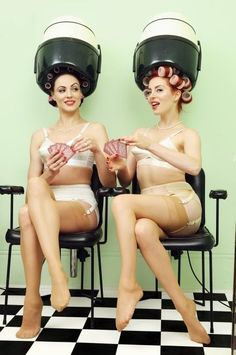 Vintage salon style pinup photo shoot... on my to do list!