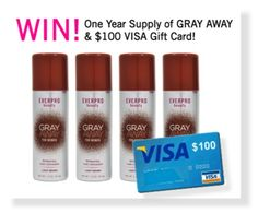 WIN a $100 Visa Gift Card and a 1 YEAR Supply of Gray Away!  #Giveaway
