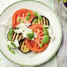 Jack Hawkins, mozzarella and aubergine salad