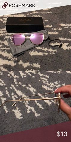 14597542ea Shop Women s sojos Purple Gold size OS Glasses at a discounted price at  Poshmark. Description  Never worn sojos sunglasses. Purple lenses with gold  frames.