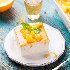 Leichte Low Carb Orangen-Käse-Sahne-Schnitten - ohne backen